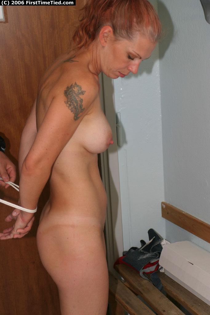 Amateur first time tied bondage commit