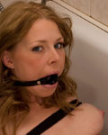 Paula tied up and gagged in the bathroom from First Time Tied