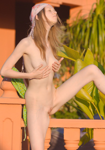 Skinny beauty goes nude from Skinny Super Girl