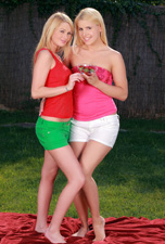Two light skinned blonde babes fuck from Sapphic Erotica
