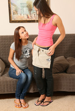 Two cuties fuck to with a strap on from Sapphic Erotica