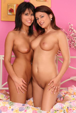 Belina and Melany fuck on the bed from Sapphic Erotica