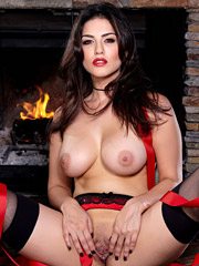 Sunny Leone celebrates Christmas eve with her fingers jammed  from Twistys Network