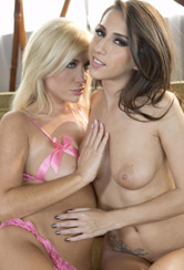 April O'Neil and Tasha Reign lick their twats and finger-fuck from When Girls Play
