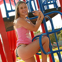 Teen web model caught naked on jungle gym from Private School Jewel