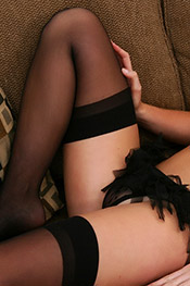 Black silk stockings on a blonde schoolgirl from Private School Jewel